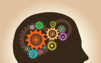 16881701 - intelligence concept, men with ideas and gears